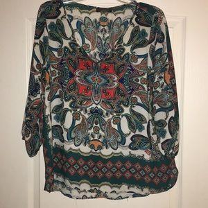 Renee C paisley print blouse.